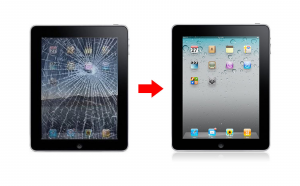 ipad cracked screen repair