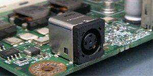 DC Jack Soldered on Motherboard - DC Jack Repair
