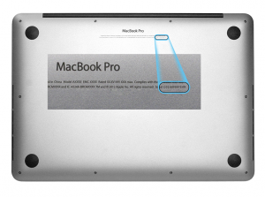 Macbook Pro serial number