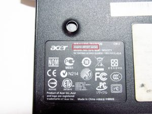 acer aspire laptop model number