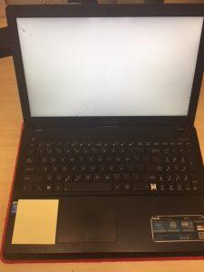 Asus P550L-5 - fault screen